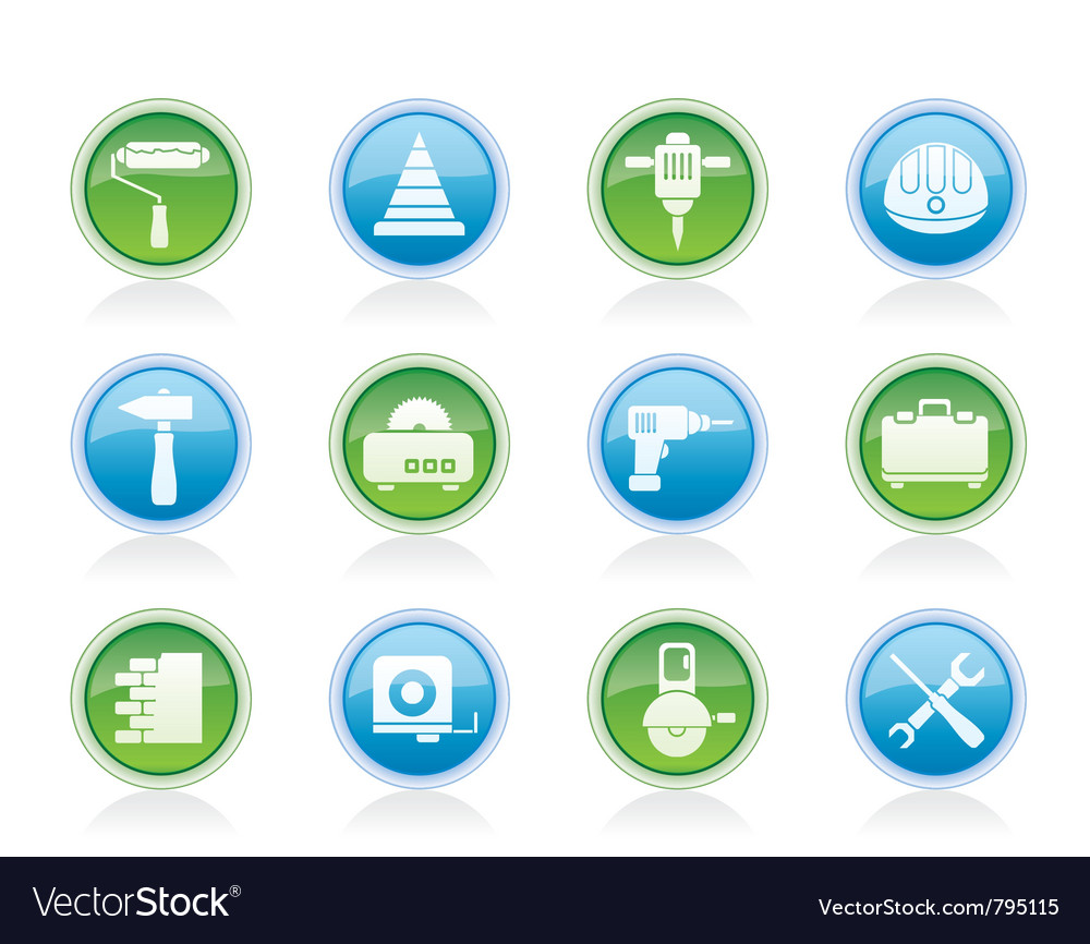 Building and construction tools icons vector | Price: 1 Credit (USD $1)