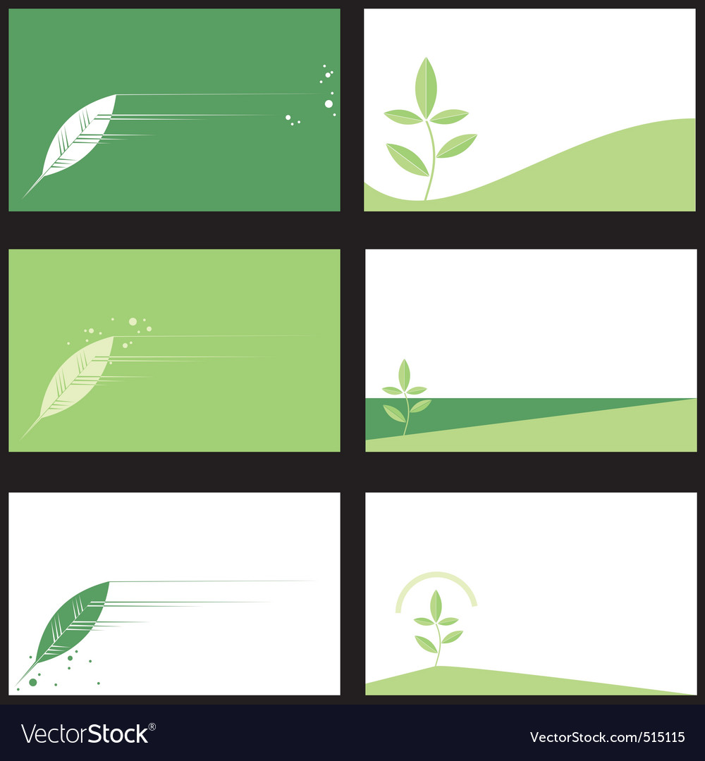 Business card ecology vector | Price: 1 Credit (USD $1)
