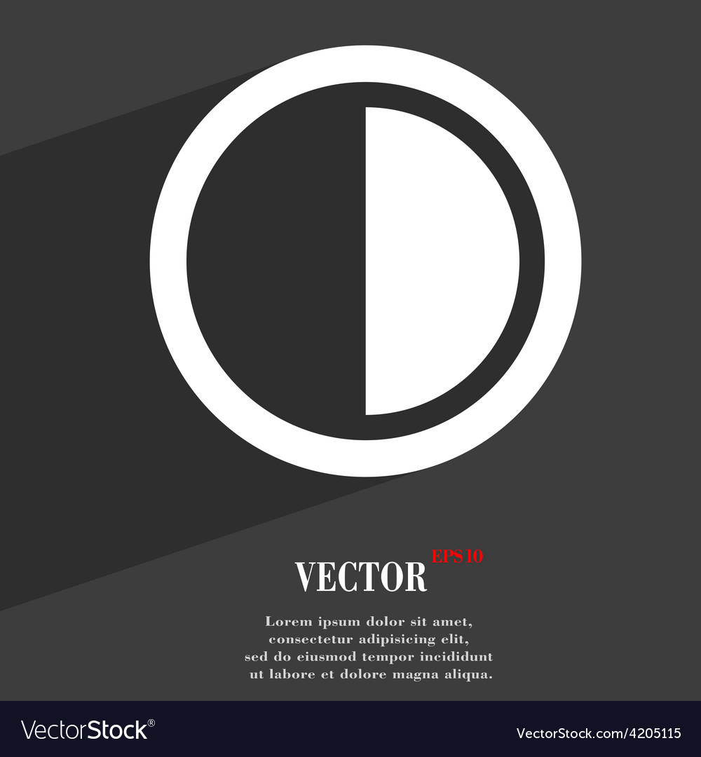 Contrast icon symbol flat modern web design with vector | Price: 1 Credit (USD $1)