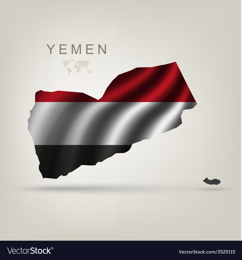 Flag of yemen as a country vector | Price: 1 Credit (USD $1)