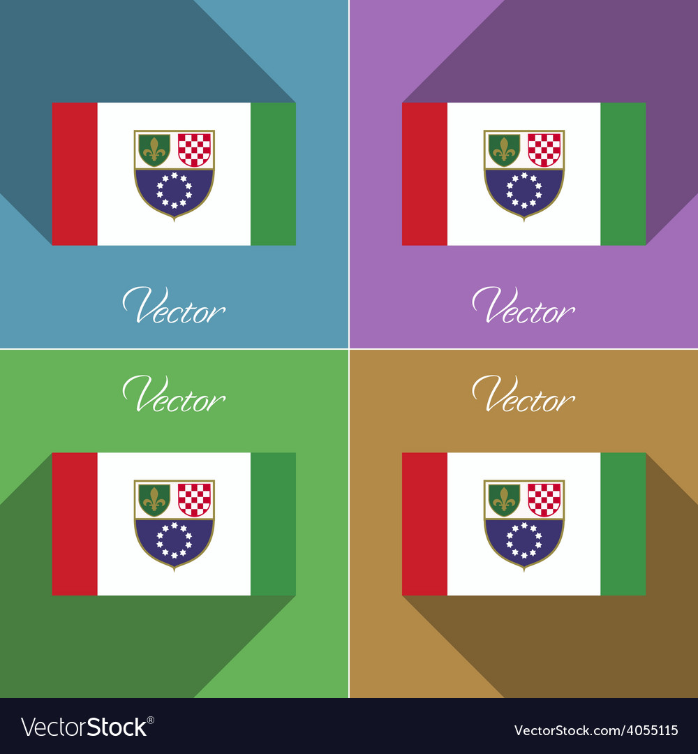 Flags bosnia and herzegovina federation set of vector | Price: 1 Credit (USD $1)
