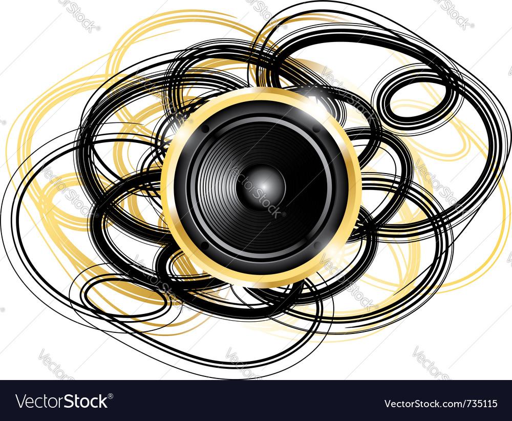 Golden speaker vector | Price: 1 Credit (USD $1)