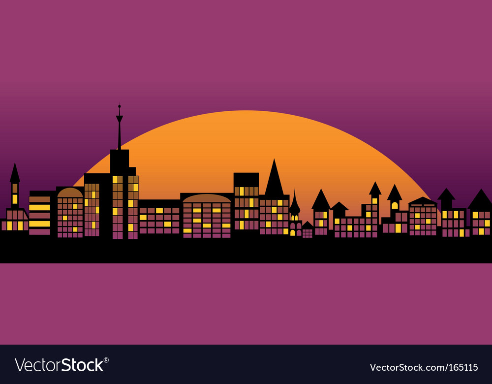 Nightly city vector | Price: 1 Credit (USD $1)