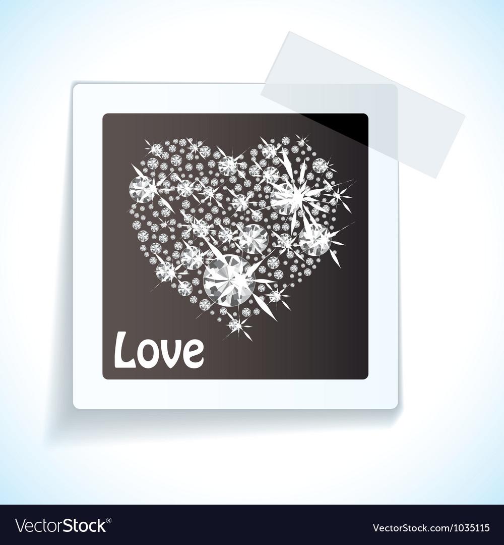 Paper tape love tag vector | Price: 1 Credit (USD $1)