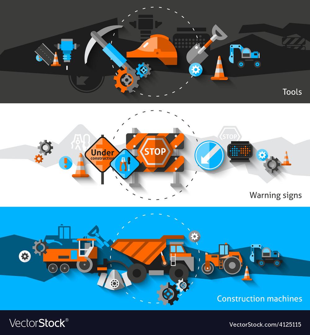 Road repair banners vector   Price: 3 Credit (USD $3)