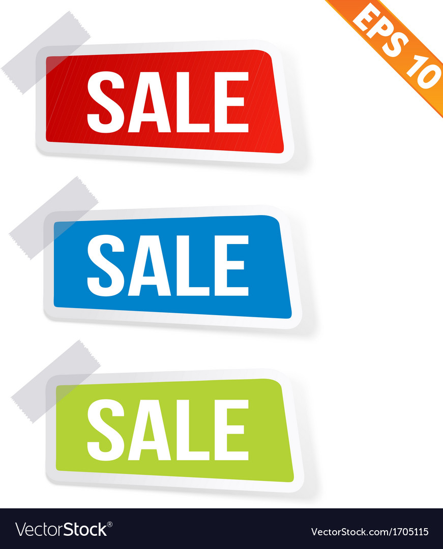 Sale sticker tag - - eps10 vector | Price: 1 Credit (USD $1)