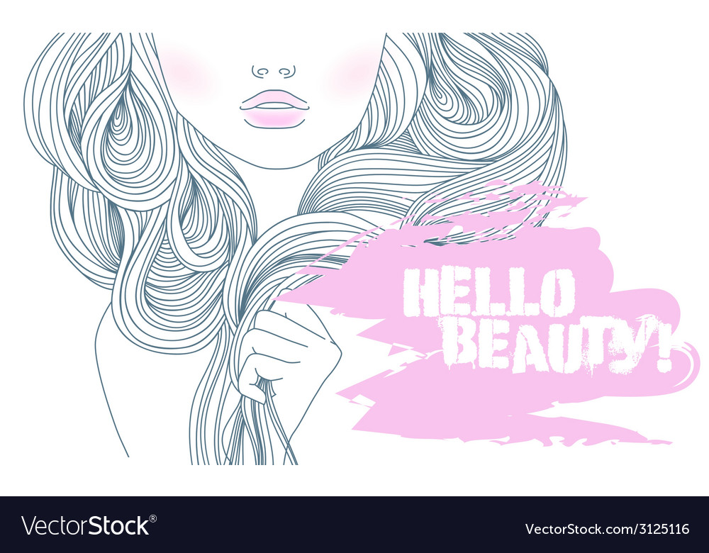 Beautiful girl vector | Price: 1 Credit (USD $1)