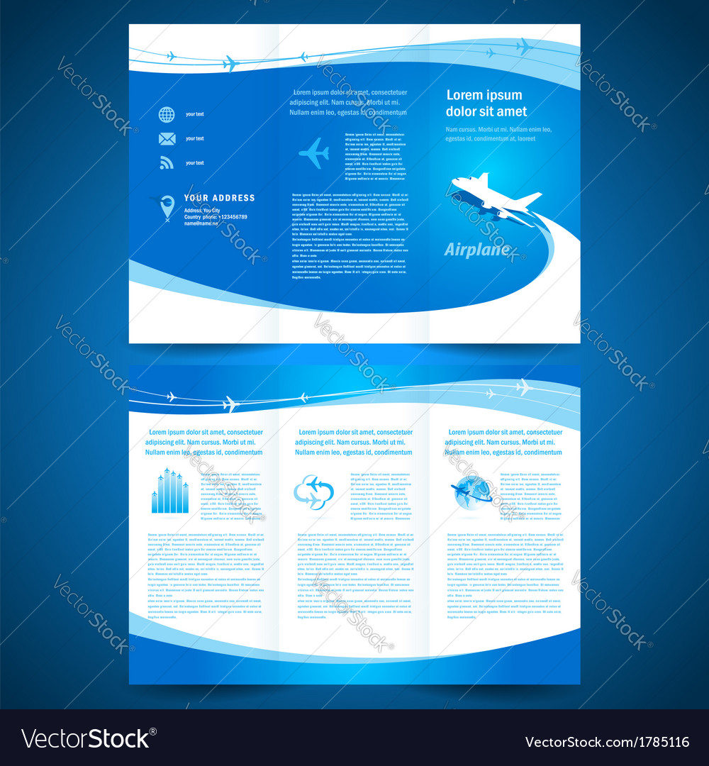 Brochure airplane vector | Price: 1 Credit (USD $1)
