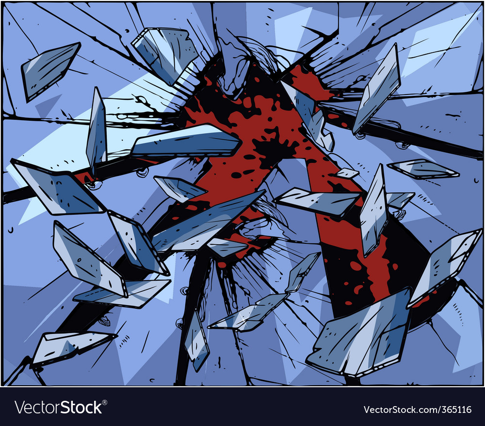 Broken glass vector | Price: 3 Credit (USD $3)