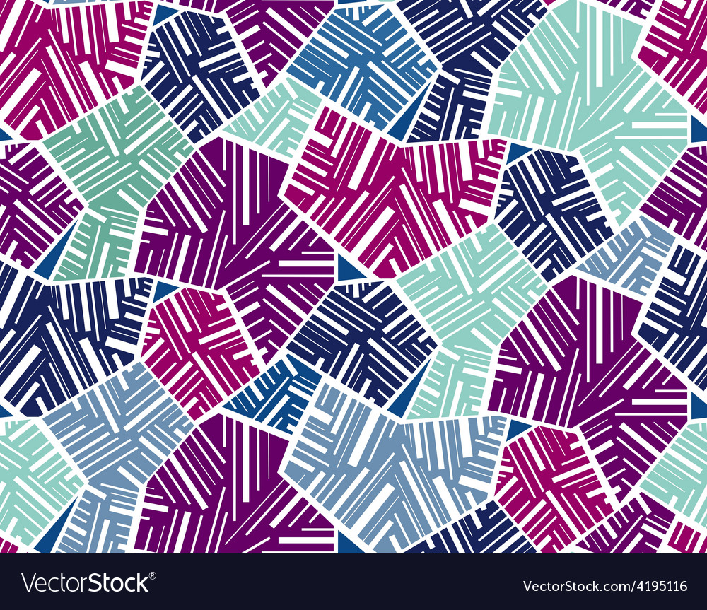 Geometric abstract seamless pattern motif vector | Price: 1 Credit (USD $1)