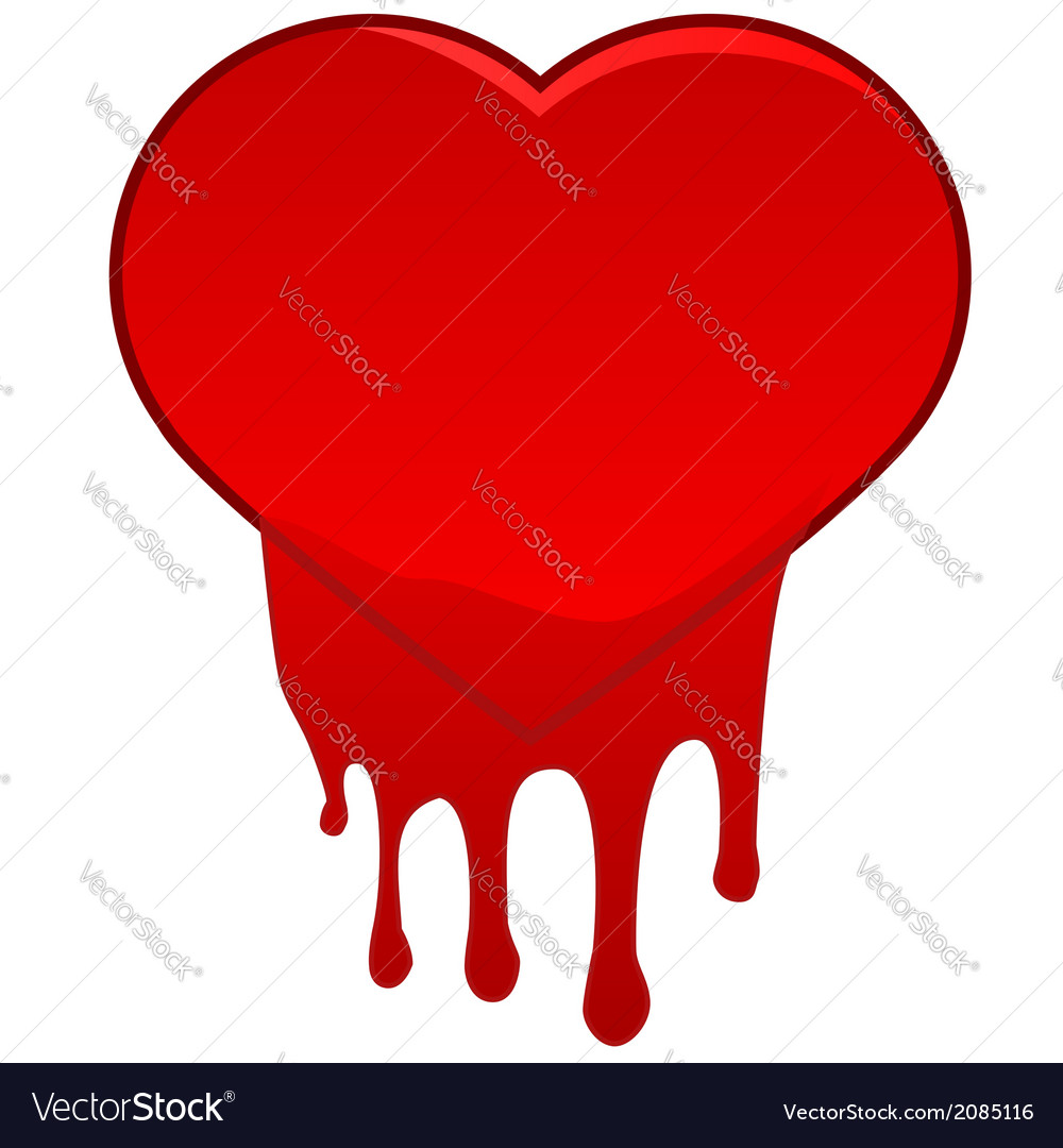 Heart bleeding vector | Price: 1 Credit (USD $1)