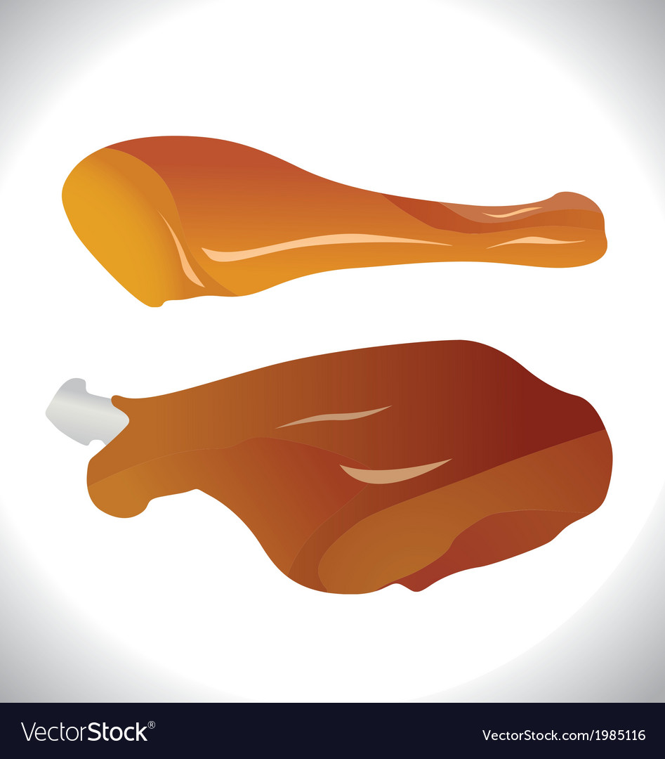 Roasted chicken legs vector | Price: 1 Credit (USD $1)