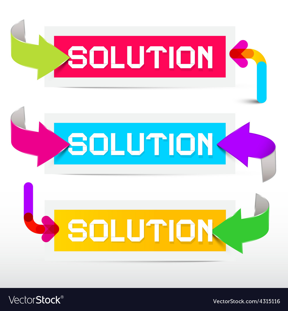 Solution colorful stickers - labels set with vector | Price: 1 Credit (USD $1)