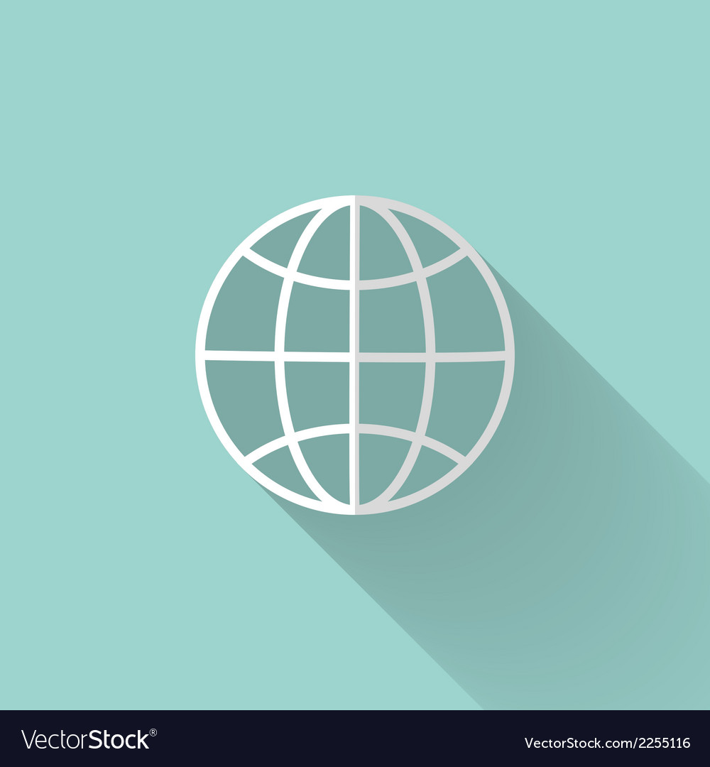 White globe icon over mint vector | Price: 1 Credit (USD $1)