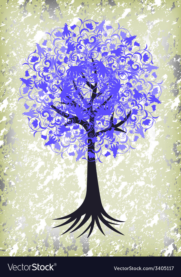 Abstract tree with background vector | Price: 1 Credit (USD $1)