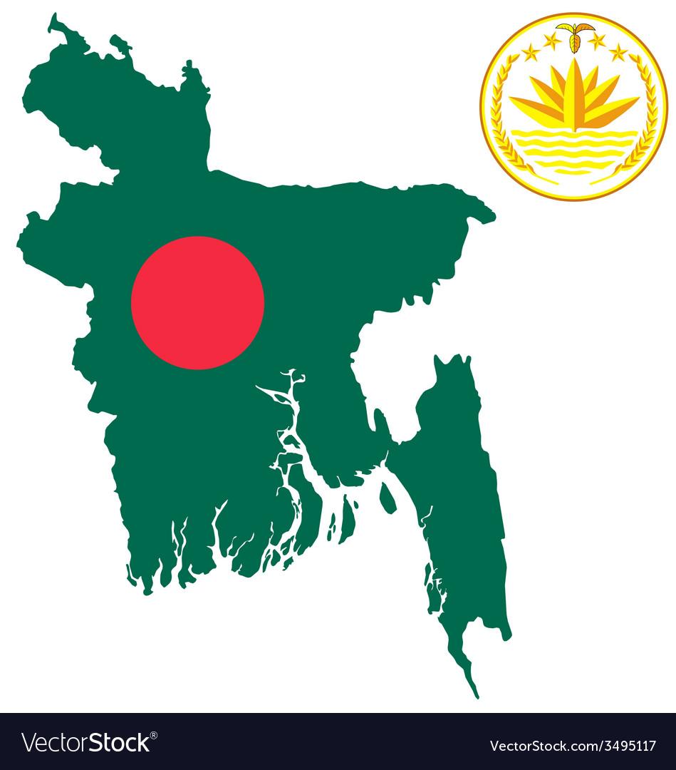 Bangladesh flag vector | Price: 1 Credit (USD $1)