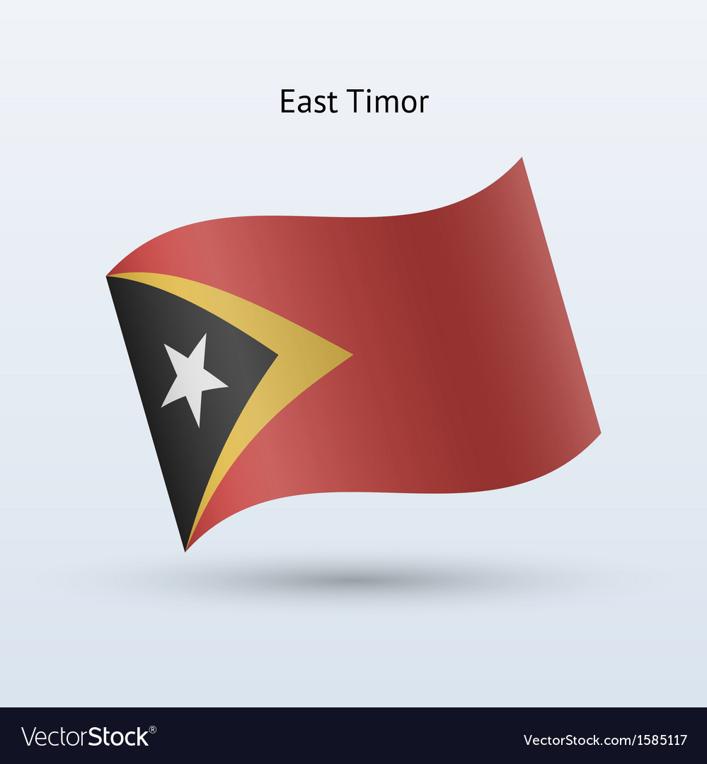 East timor flag waving form vector | Price: 1 Credit (USD $1)