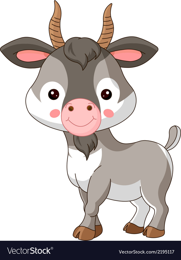 Farm animals goat vector | Price: 1 Credit (USD $1)