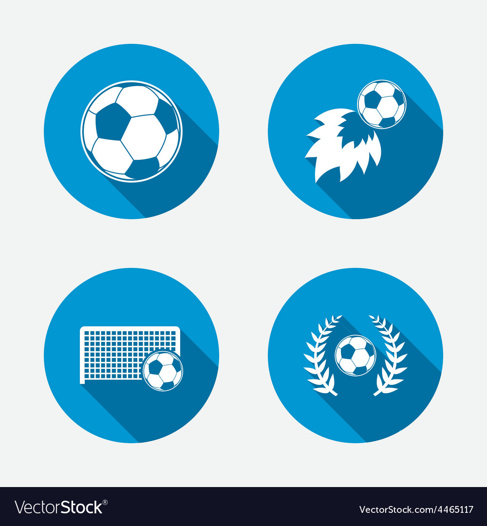 Football icons soccer ball sport vector | Price: 1 Credit (USD $1)