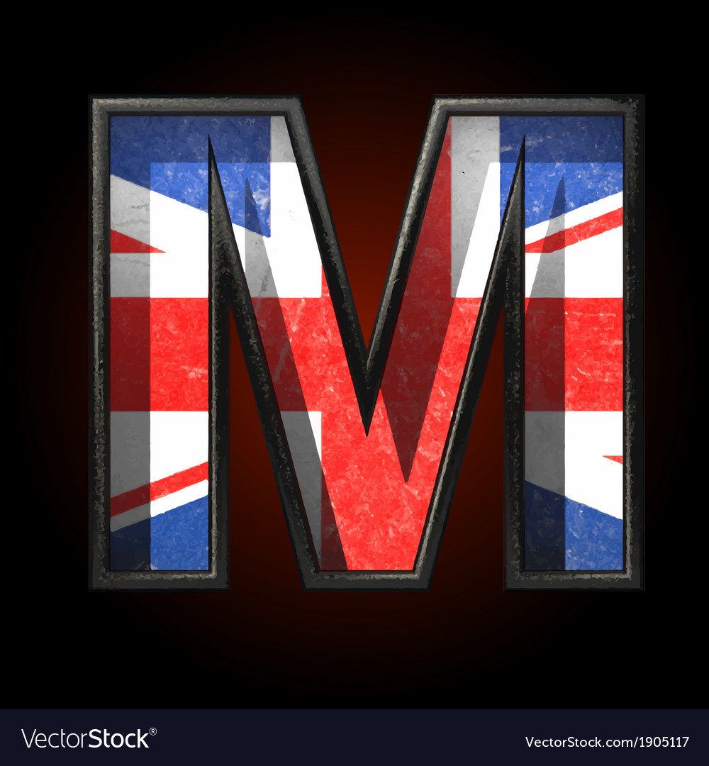 Great britain cutted figure m vector | Price: 1 Credit (USD $1)