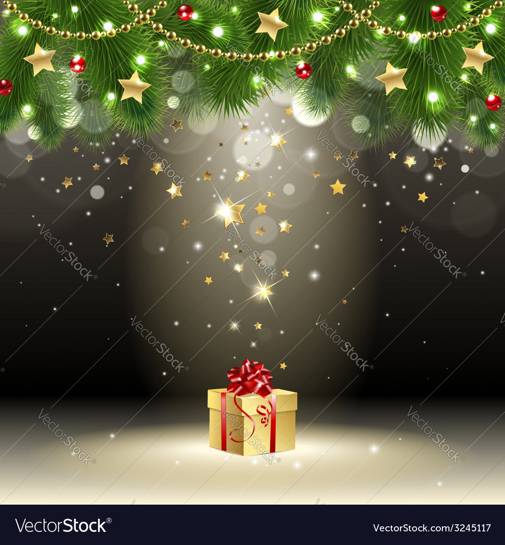 Greeting card with gift vector | Price: 1 Credit (USD $1)