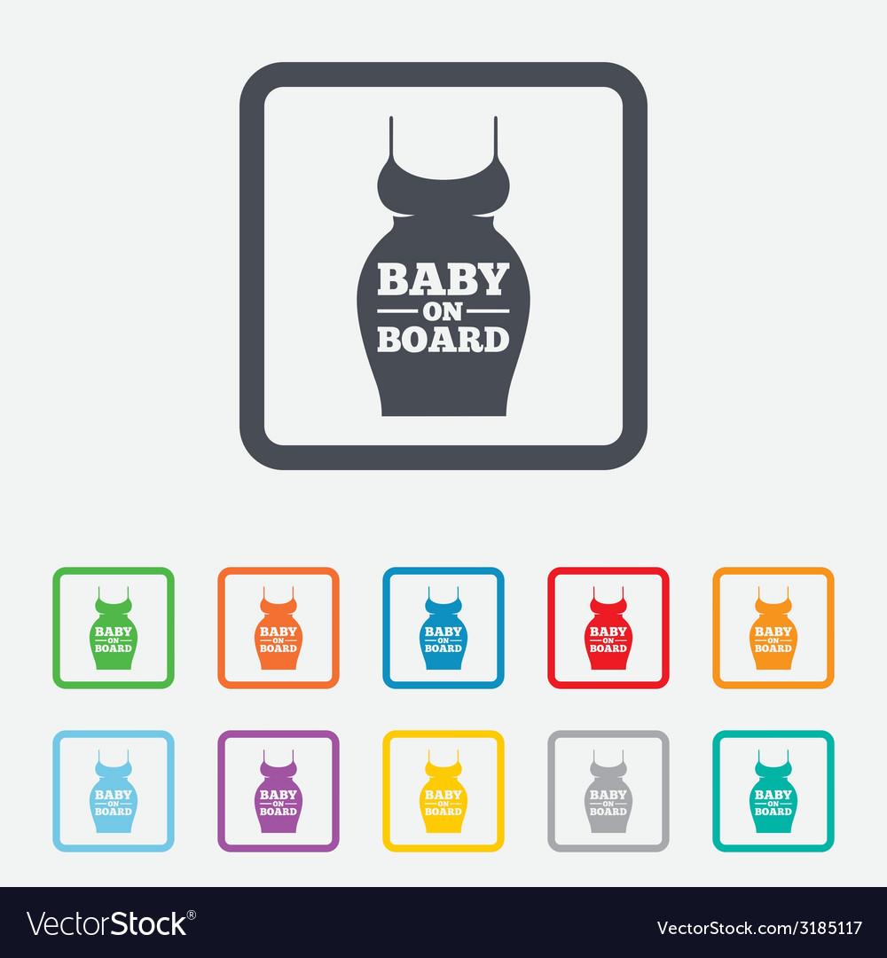 Pregnant woman dress sign icon maternity symbol vector   Price: 1 Credit (USD $1)