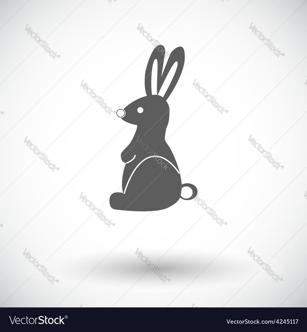 Rabbit single icon vector | Price: 1 Credit (USD $1)