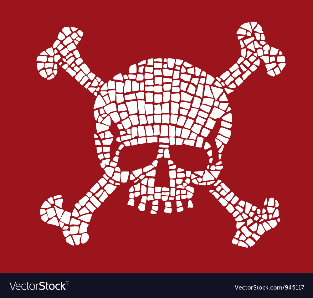 Skull mosaic vector | Price: 1 Credit (USD $1)