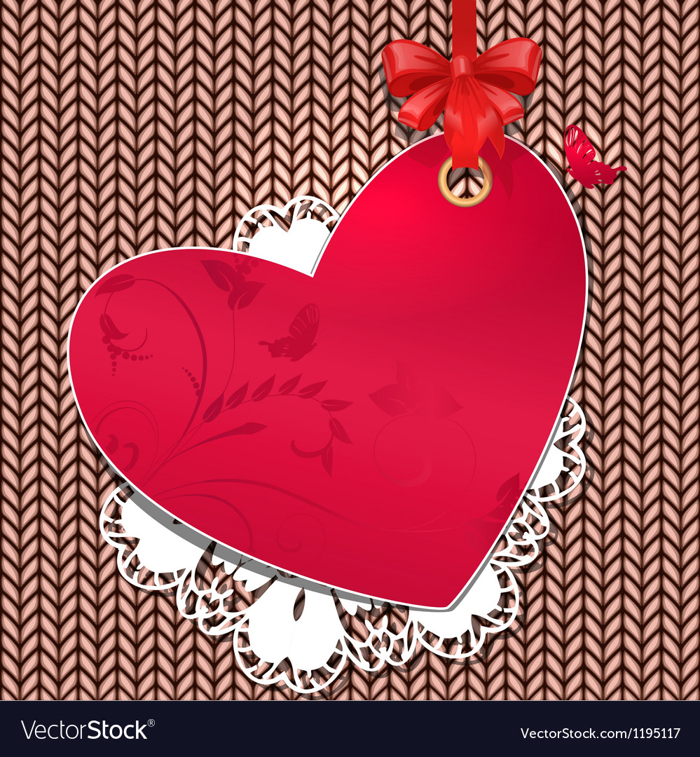 Valentines knit background vector | Price: 1 Credit (USD $1)