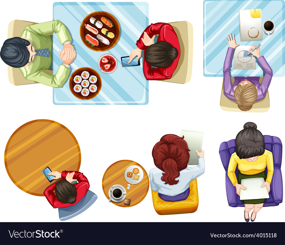 Aerial view of people vector   Price: 3 Credit (USD $3)