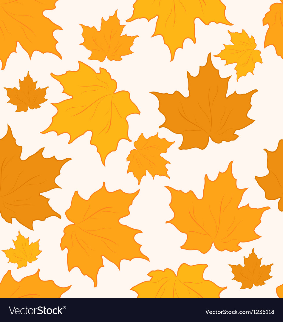 Autumnal maple leaves seamless background - vector | Price: 1 Credit (USD $1)