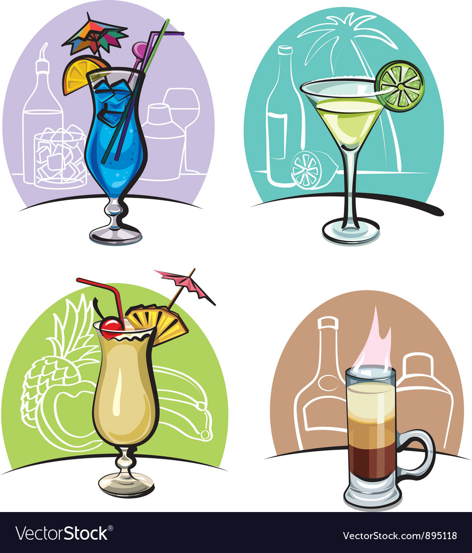 Cocktails vector | Price: 3 Credit (USD $3)