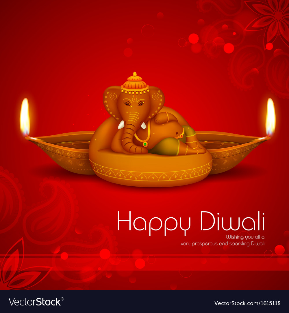 Diwali holiday background vector | Price: 1 Credit (USD $1)