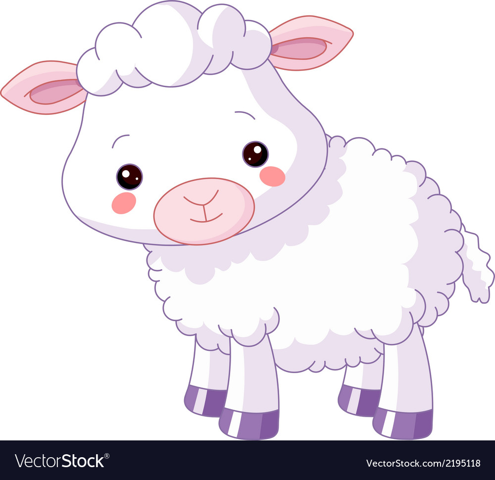 Farm animals lamb vector | Price: 1 Credit (USD $1)