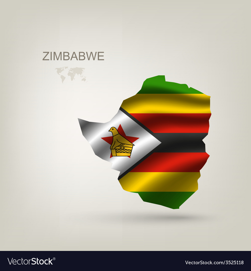 Flag of zimbabwe as a country vector | Price: 1 Credit (USD $1)