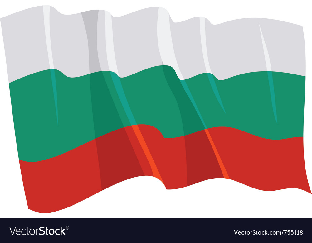 Political waving flag of bulgaria vector | Price: 1 Credit (USD $1)