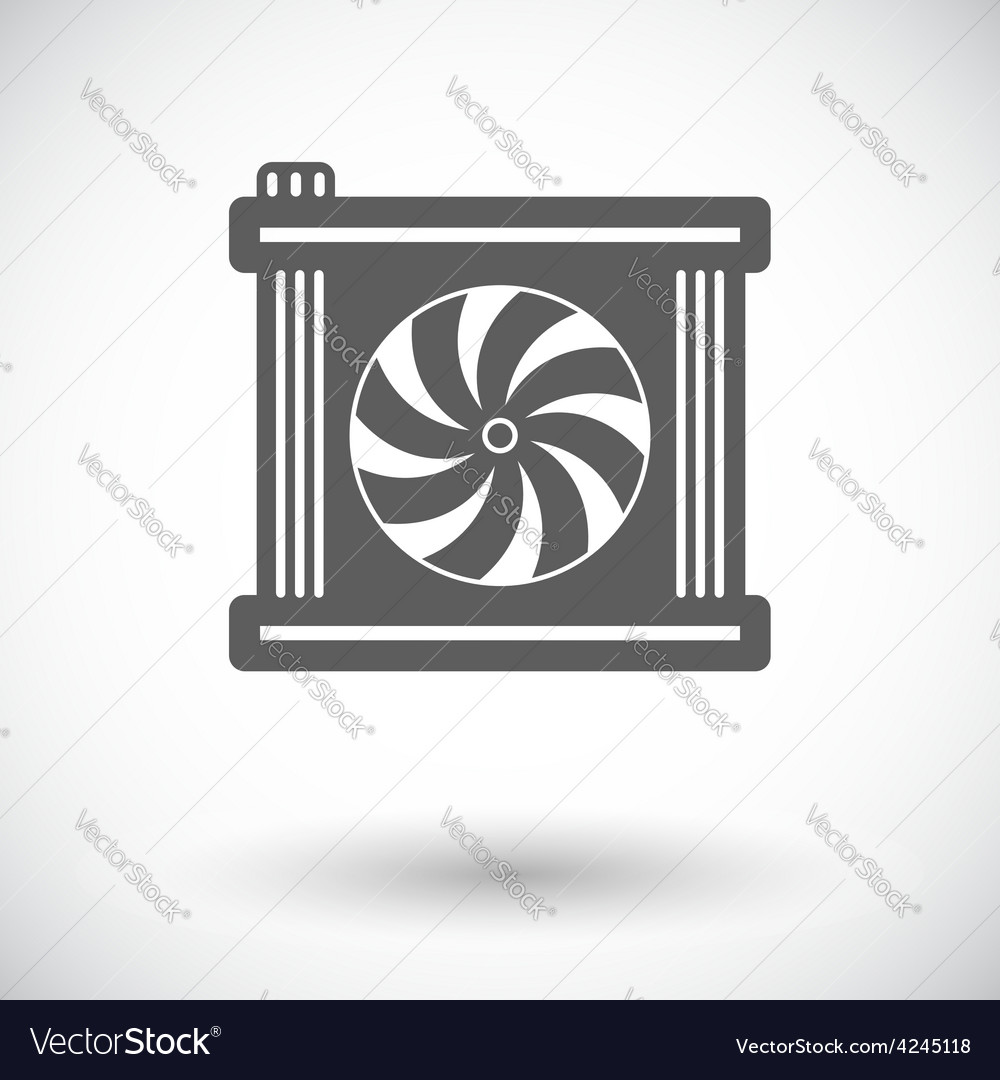 Radiator fan icon vector | Price: 1 Credit (USD $1)
