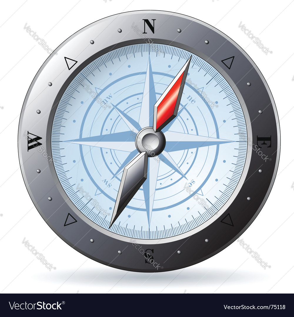 Steel compass vector | Price: 1 Credit (USD $1)