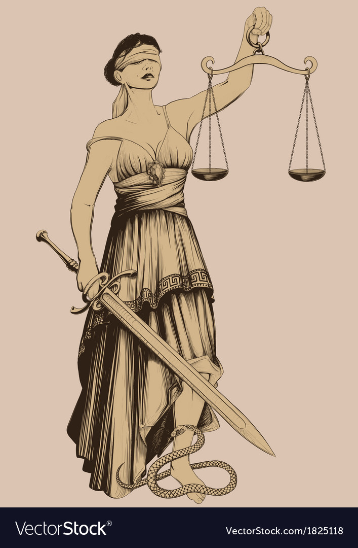 Symbol of justice femida vector | Price: 1 Credit (USD $1)