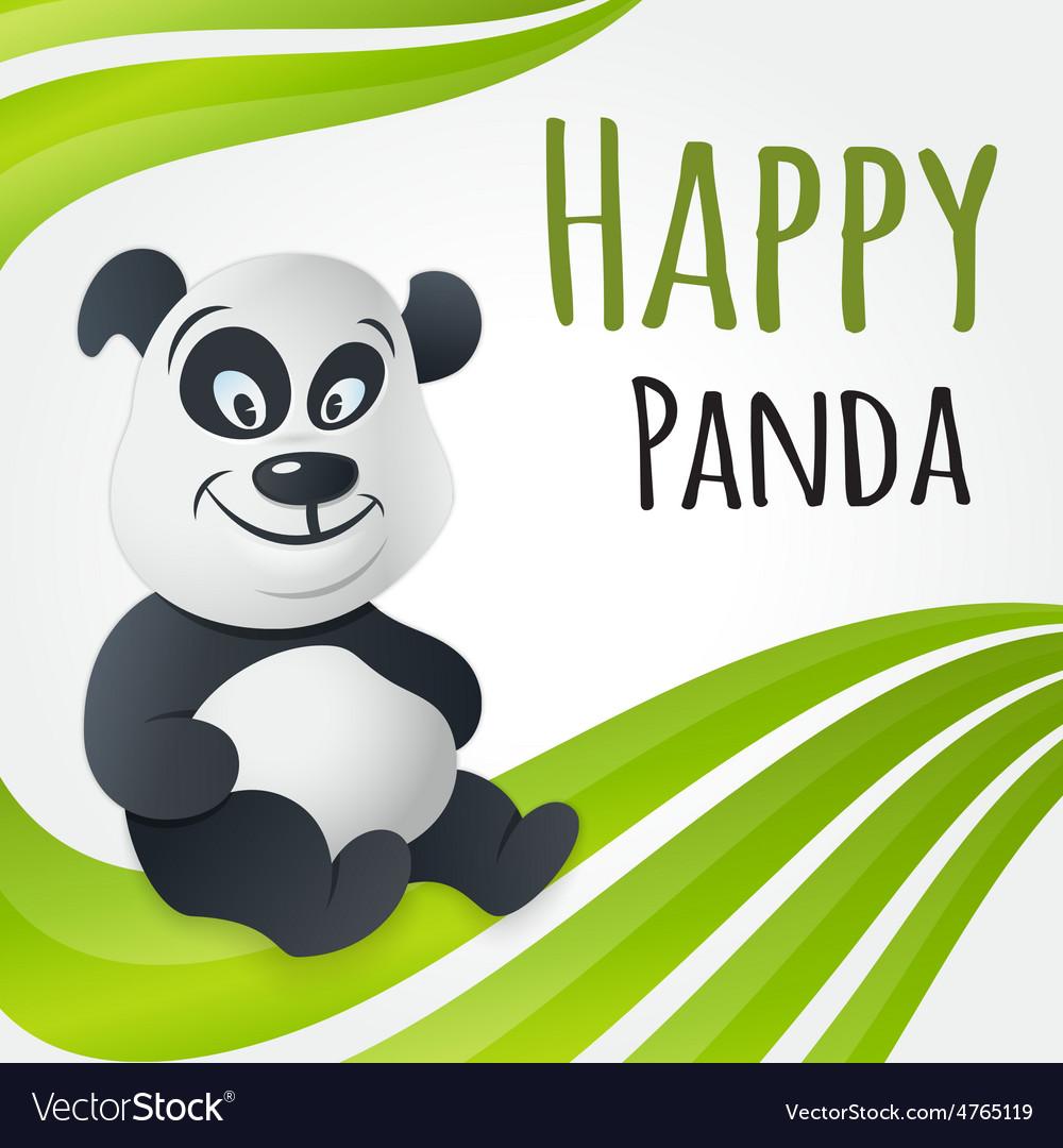 Cute happy panda character vector | Price: 1 Credit (USD $1)