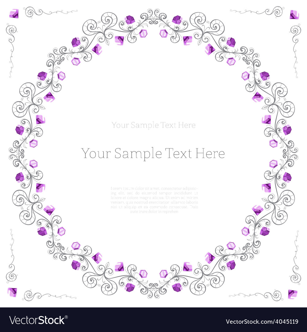 Elegant frame made of diamonds vector | Price: 1 Credit (USD $1)