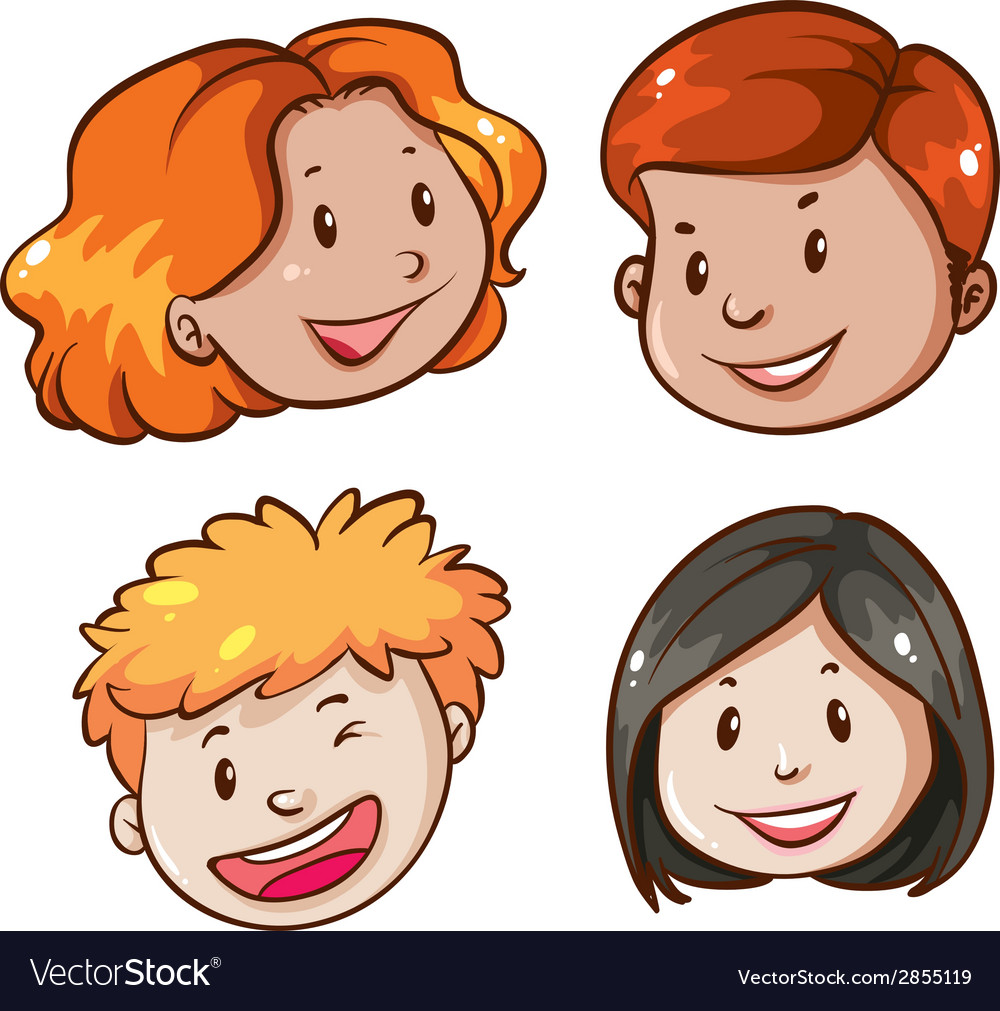 Faces of the office workers vector | Price: 1 Credit (USD $1)