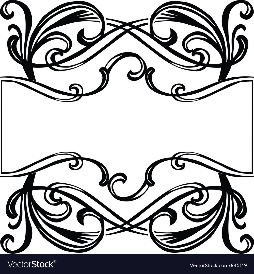 Filigree ornament frame vector | Price: 1 Credit (USD $1)