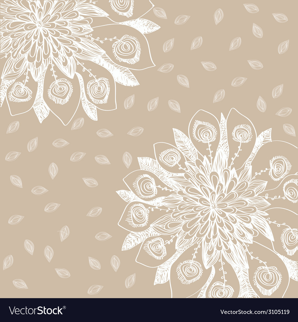 Flower on background vector | Price: 1 Credit (USD $1)