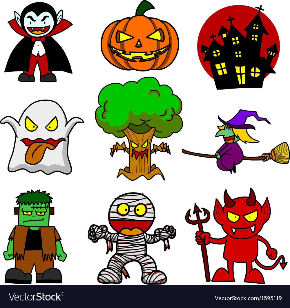 Halloween character cartoon vector | Price: 1 Credit (USD $1)