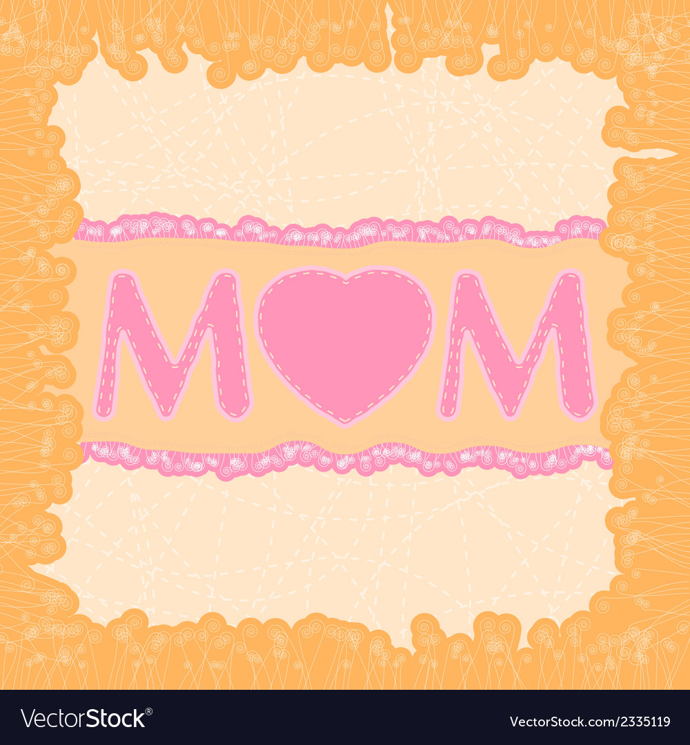 Happy mothers day dard template eps 8 vector | Price: 1 Credit (USD $1)