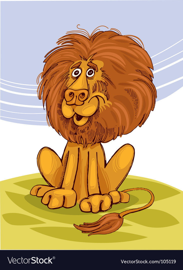 Lion smiling vector | Price: 3 Credit (USD $3)