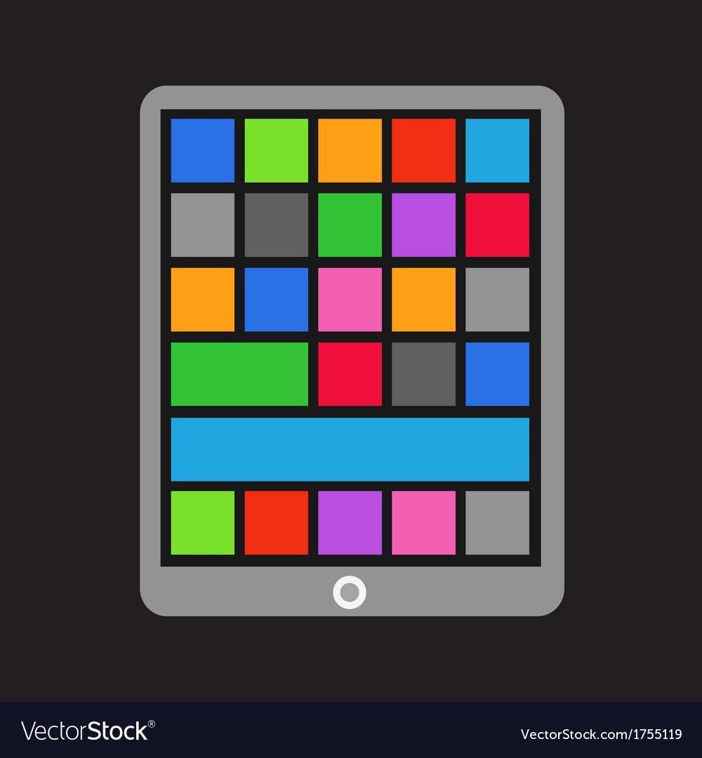 Modern tablet gadget vector | Price: 1 Credit (USD $1)