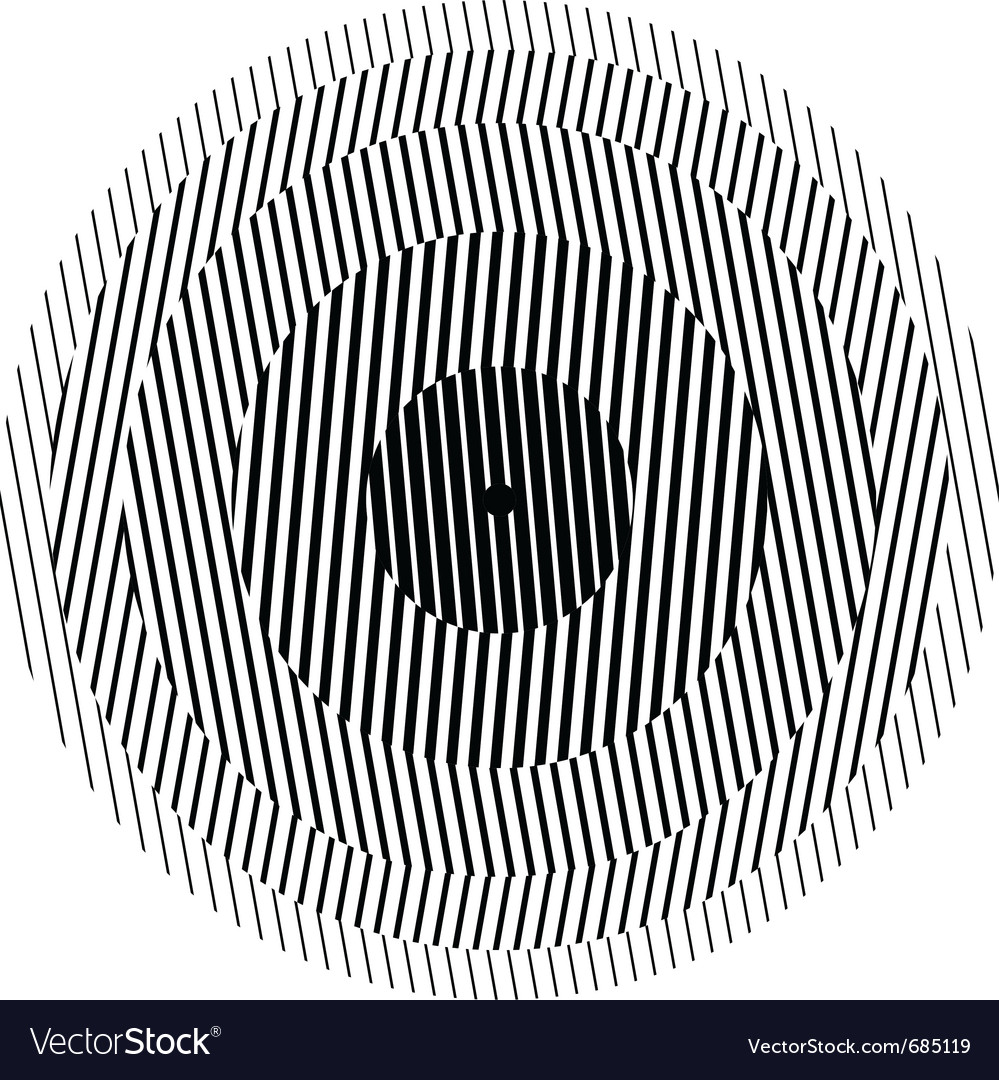 Optical illusion circle vector | Price: 1 Credit (USD $1)