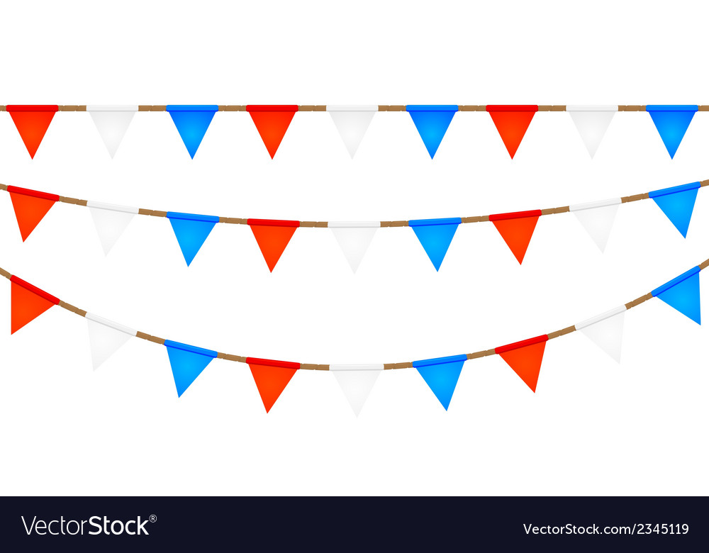 Ropes with flags elements for your design vector | Price: 1 Credit (USD $1)